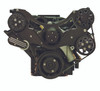 Billet Serpentine System Ford FE 390/427/428 W/ AC & PS; Silverline Series - All American Billet FDS-FE-201