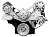 Billet Serpentine System Ford FE 390/427/428 W/O AC & W/ PS; Machined Finish - All American Billet FDS-FE-303