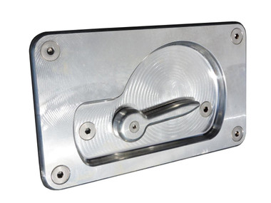 1958-1966 GM Fleetside Trucks Billet Tailgate Latch Assembly For Aftermarket Tailgates; Machined Finish - All American Billet TGLA