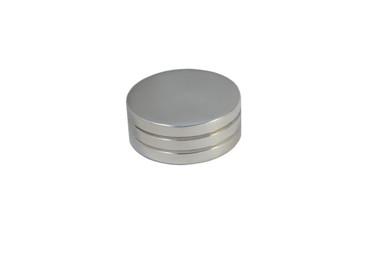 Billet Air Cleaner Nut Standard W/ Grooves; Polished Finish - All American Billet ACNS125-P