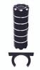 Billet Power Steering Reservoir; Silverline Supreme Black - All American Billet PSR-SSB
