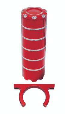 Billet Power Steering Reservoir; Silverline Supreme Red - All American Billet PSR-SSR