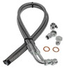 1965-1979 GM/Ford Power Steering Hose Kit; Braided Stainless Steel - All American Billet 131151