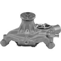 Small Block Chevy Aluminum Serpentine System Reverse Rotation Water Pump; As Cast - All American Billet 1635N