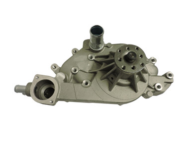 Chevy LS 1, 2, 3 & 6 Aluminum Serpentine System Reverse Rotation Water Pump; As Cast - All American Billet 1310C