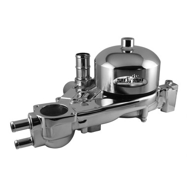 Chevy LS 1, 2, 3 & 6 Aluminum Serpentine System Reverse Rotation Water Pump; Polished Finish - All American Billet 1310B