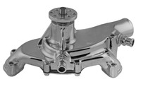 Big Block Chevy Aluminum Serpentine System Reverse Rotation Water Pump; Polished Finish - All American Billet 1495ABREV