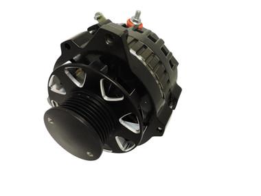 GM CS130 Style Alternator - 160 AMP, 1-wire; Black - All American Billet 7861MABLK