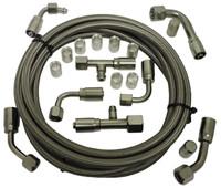 Billet Air Conditioning Hose Kit; Straight - All American Billet 343120
