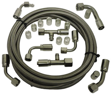 Billet Air Conditioning Hose Kit; Straight - All American Billet 343120