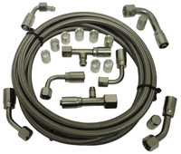 Billet Air Conditioning Hose Kit; 90 Degree - All American Billet 343100