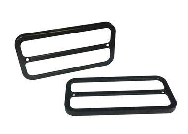 1968-1972 Chevy Truck Billet Side Marker Light Bezel, Dual Window; Black Anodized - All American Billet BSML-DW-B