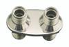 Billet Heater Bulkhead Oval W/ 2 Fittings; Machined Finish - All American Billet 4100