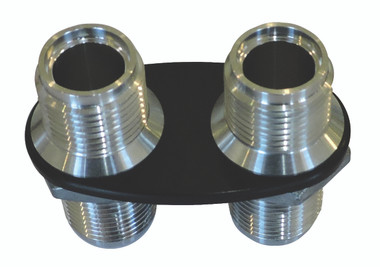 Billet Heater Bulkhead Oval W/ 2 Fittings; Silver Line Series - All American Billet 4100-SL