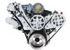 Billet Serpentine System LS1, LS2, LS3 & LS6 W/ Edelbrock Water Pump; Polished Finish; NO AC - All American Billet FDS-LS-103-E