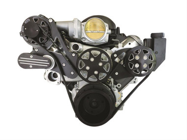 Billet Silverline Series LS1, LS2, LS3 & LS6 W/ Tuff Stuff Water Pump; NO AC - All American Billet FDS-LS-203