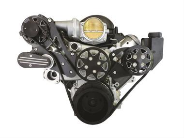 Billet Silverline Series LS1, LS2, LS3 & LS6 W/ Tuff Stuff Water Pump; NO AC - All American Billet FDS-LS-203