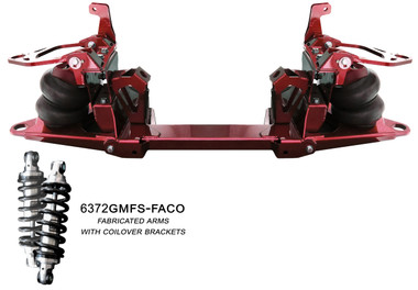 1963-1972 GM C10 Pickup Front Suspension W/ Fabricated Arms & Coilover Brackets - All American Billet 372GMFS-FACO