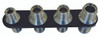 Billet A/C & Heater Bulkhead Inline W/ 4 Fittings; Silver Line Series - All American Billet 4102-SL