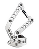 1960-1966 GM Billet Hood Hinges With Holes; Polished Finish - All American Billet HH-6066CT-H-P