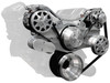 Chrysler Hemi/Big Block Front Drive Kit - Machine Finish with AC and Power Steering - All American Billet FDS-440-301