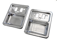 1968-1977 Bronco Billet Interior Door Cups; Polished Finish - All American Billet DHC-FB6877-P
