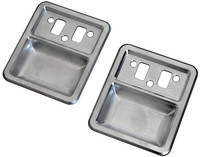 1968-1977 Bronco Billet Interior Door Cups; Machined Finish - All American Billet DHC-FB6877