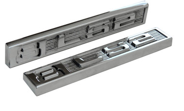 Polished Billet Emblem Set (8 LS2) - All American Billet ES-8LS2-P