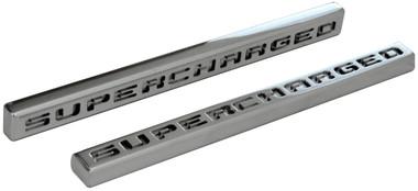 Polished Supercharged Emblem - All American Billet ES-SU-P