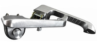 Billet Door Handles (Pair) For Ford Bronco and Mustang  - Machine Finish - All American Billet DH-6677FB