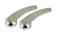 Ball Milled Door Handles (Pair) For Ford Cars to 1948 & Ford Trucks to 1952 - Polished Finish - All American Billet DH-BM-P-3