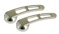 Billet Door Handle W/ Dual Cutouts For GM / Ford Trucks 1949 and Later (Pair); Polished Finish - All American Billet DH-DC-P-2