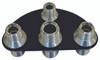 Billet A/C & Heater Bulkhead 1/2 Circle W/ 4 Fittings; Silver Line Series - All American Billet 4105-SL