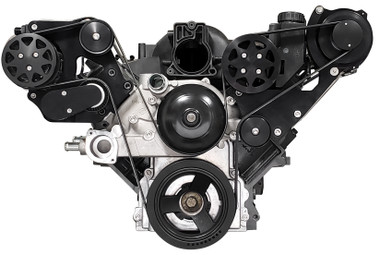 Billet Serpentine LS F Body Budget Kit; Black Anodized Finish - All American Billet FDS-LSBF-701