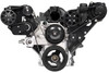 Billet Serpentine LS Truck Budget Kit; Black Anodized Finish - All American Billet FDS-LSBT-701