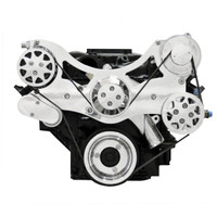 Billet Serpentine System Small Block Chrysler W/O AC & W/ Power Steering; Polished Finish - All American Billet FDS-318-153