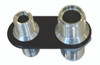 Billet A/C Bulkhead Inline W/ 2 Fittings; Silver Line Finish - All American Billet 4108-SL