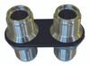 Billet Heater Bulkhead Inline W/ 2 Fittings; Silver Line Finish - All American Billet 4109-SL