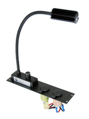 "C-ML-LP2 - Internal Console Mount, 2"" Plate, 2 Lighter Plug Outlets, 1 Map Light"