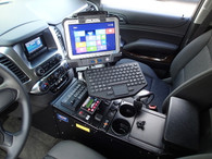 "C-VS-1013-TAH-1, 2015-2016 Chevrolet Tahoe Police Pursuit Vehicle  Specific 23"" Console"