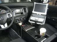 """C-VS-2500-CHGR-1, 2011-2016 Dodge Charger (Police Package) Vehicle Specific 25"""" Console"""
