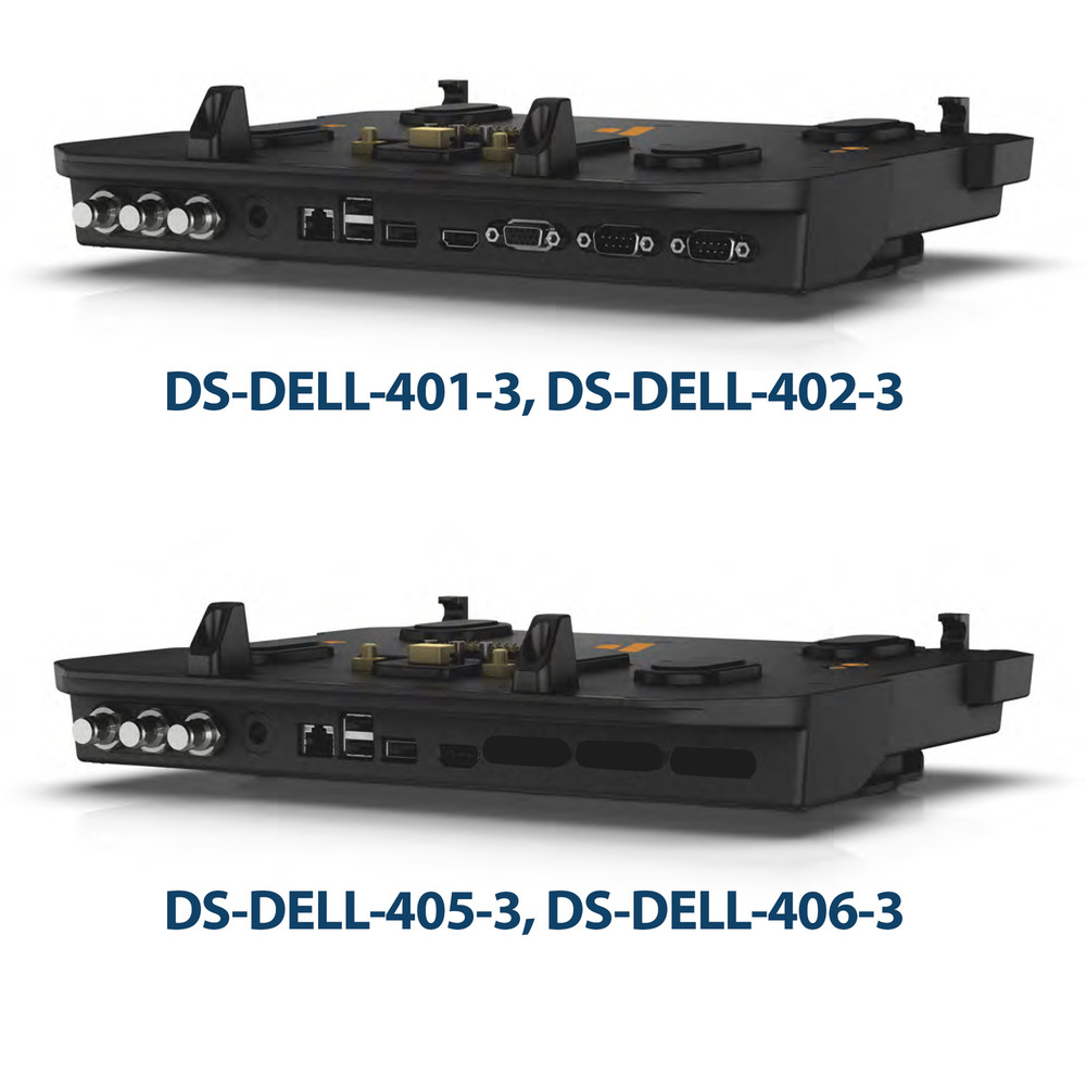 DISCONTINUED 1/10/19 DS-DELL-405-3 - Docking Station with Triple  Pass-through Antenna for Dell's Latitude 14 Rugged and Latitude 12 & 14