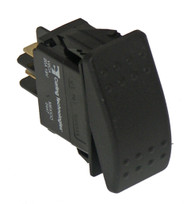 C-SW-4 - Black Paddle Type Rocker Switch, 20 Amps, 18 Volt, Off/On Momentary, No Red Pilot, 2 Prong