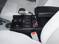 """C-VS-1300-TBZ, Console, Vehicle specific, 13"""" Total mounting space, 0 Degrees, Housing complete, Chevrolet Trailblazer, 02-09,"""