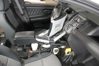 "C-VS-1400-INSE, Console, Vehicle specific, 14"" Total mounting space, 15 Degrees, Housing complete, Ford Interceptor Sedan Police Vehicle 13-15,"