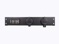 C-LP2-PS1-USB - 2 Lighter Plug Outlet W/ 1 USB Cut Outs