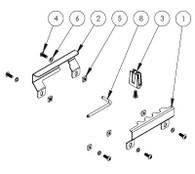 UT-2004-KIT* - Adaptor Lug Kit to secure Getac F110 in Universal Rugged Cradle UT-2001
