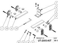 UT-2005-KIT - Adaptor Lug Kit to secure Panasonic CF20 or Lenovo Helix in Universal Rugged Cradle UT-2001