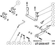 UT-2008-KIT - Adaptor Lug Kit to secure Panasonic FZ-Q1 & FZ-Q2 in Universal Rugged Cradle UT-2001