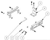 UT-2010-KIT* - Adaptor Lug Kit to secure Dell Latitude 5285 or HP Elite X2 in Universal Rugged Cradle UT-2001